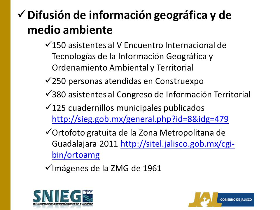 Difusión de información geográfica y de medio ambiente