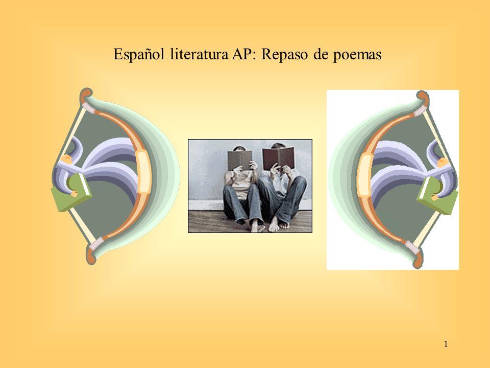 Español literatura AP: Repaso de poemas