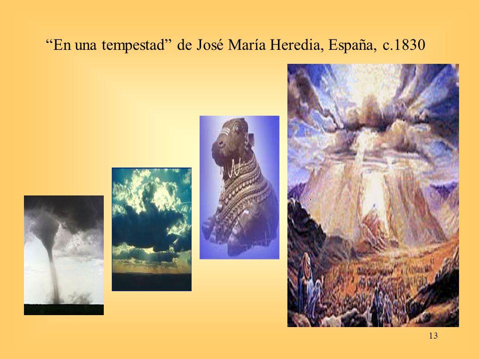 En una tempestad de José María Heredia, España, c.1830