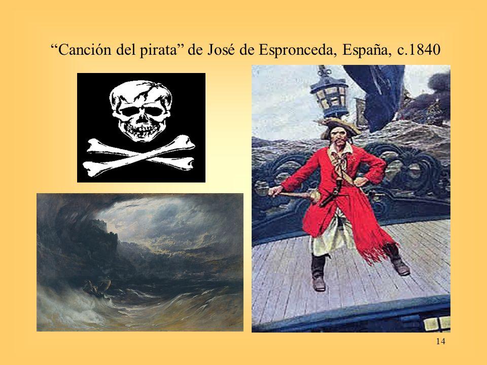 Canción del pirata de José de Espronceda, España, c.1840