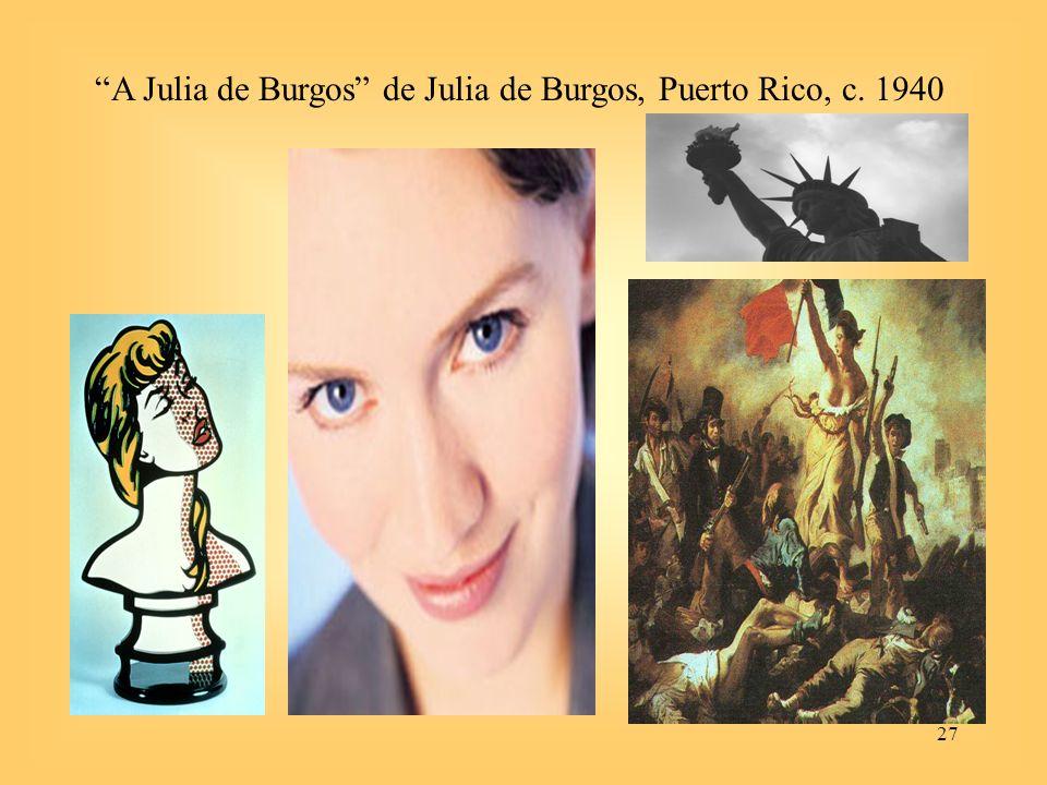 A Julia de Burgos de Julia de Burgos, Puerto Rico, c. 1940