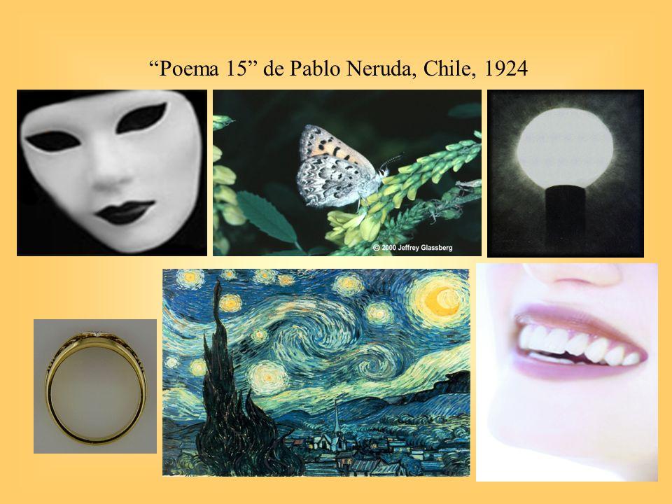 Poema 15 de Pablo Neruda, Chile, 1924