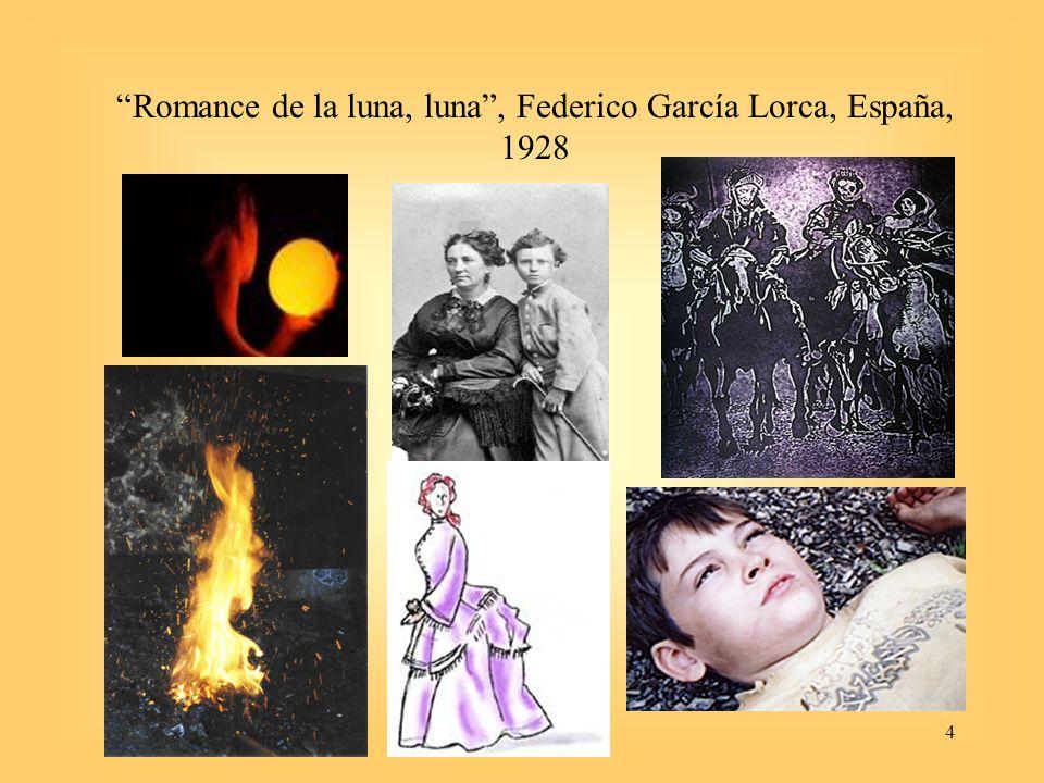 Romance de la luna, luna , Federico García Lorca, España, 1928