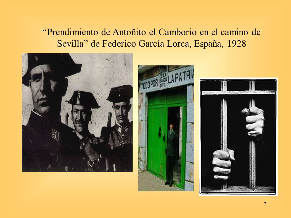 Prendimiento de Antoñito el Camborio en el camino de Sevilla de Federico García Lorca, España, 1928