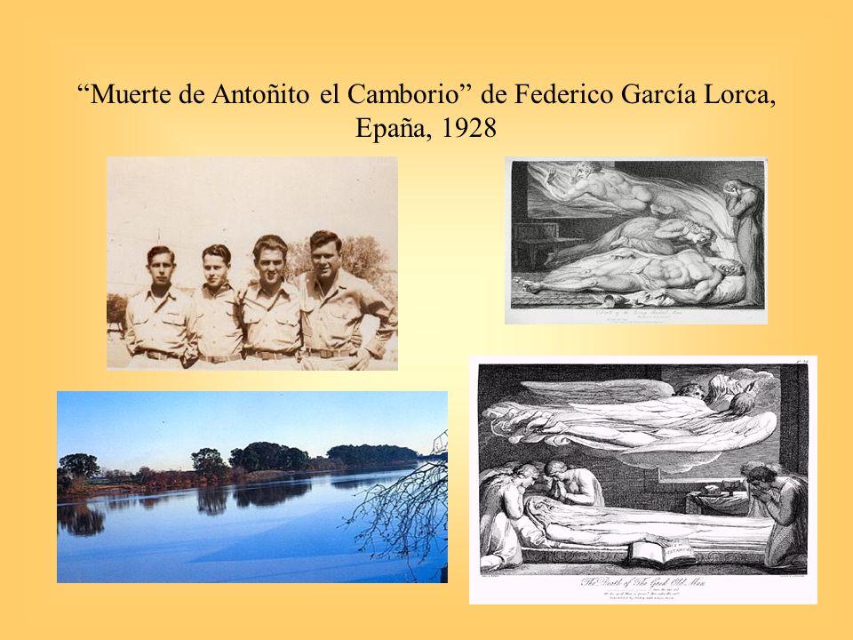 Muerte de Antoñito el Camborio de Federico García Lorca, Epaña, 1928