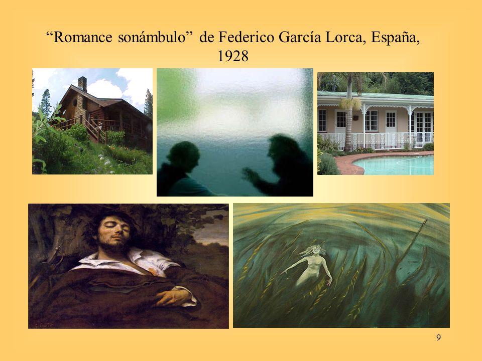 Romance sonámbulo de Federico García Lorca, España, 1928