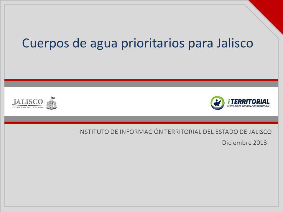 Cuerpos de agua prioritarios para Jalisco
