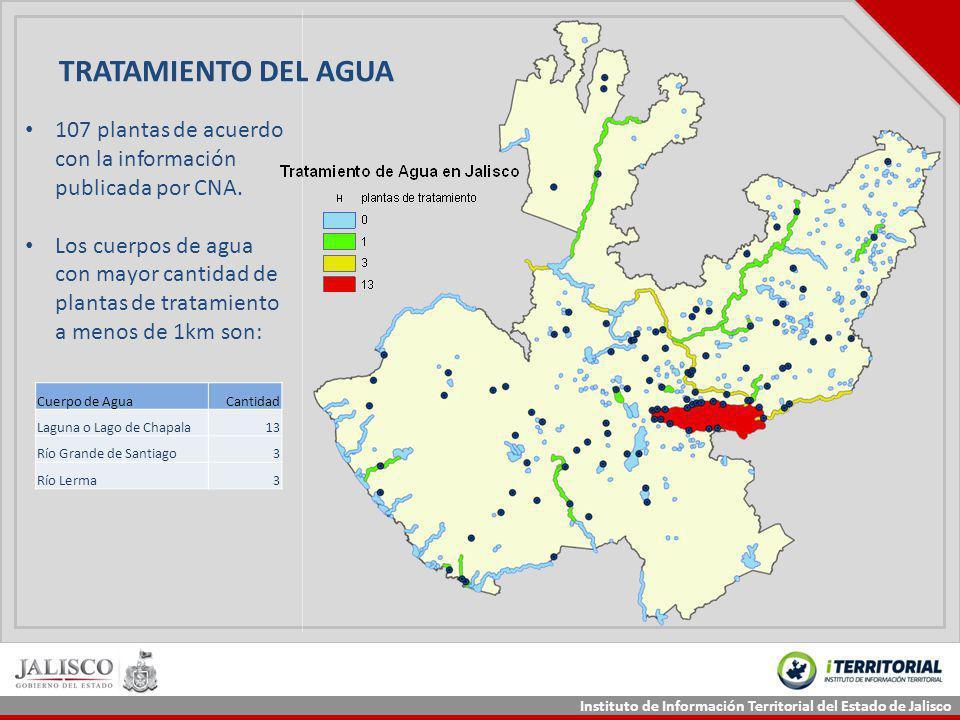 TRATAMIENTO DEL AGUA 107 plantas de acuerdo con la información publicada por CNA.