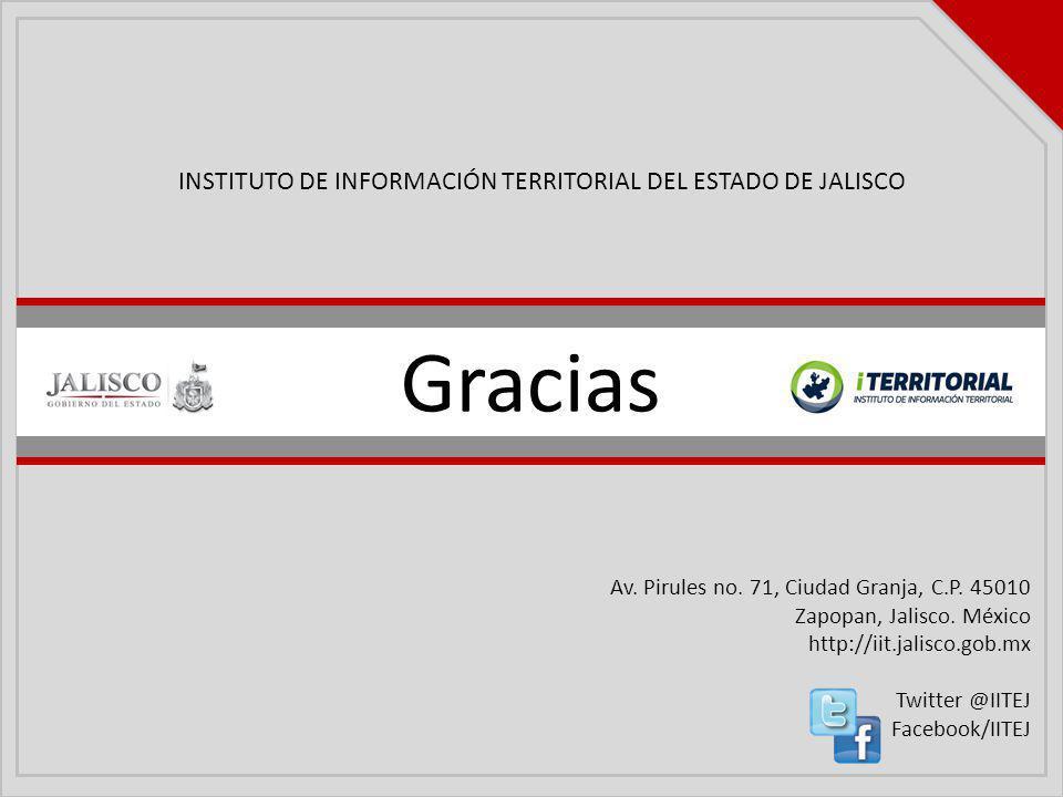 Gracias INSTITUTO DE INFORMACIÓN TERRITORIAL DEL ESTADO DE JALISCO