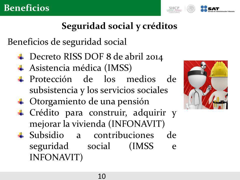 Seguridad social y créditos