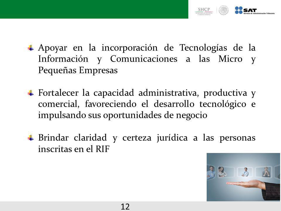 Apoyar en la incorporación de Tecnologías de la Información y Comunicaciones a las Micro y Pequeñas Empresas