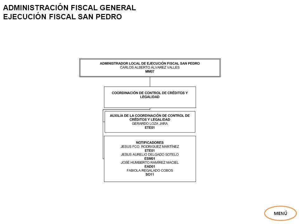 ADMINISTRACIÓN FISCAL GENERAL EJECUCIÓN FISCAL SAN PEDRO
