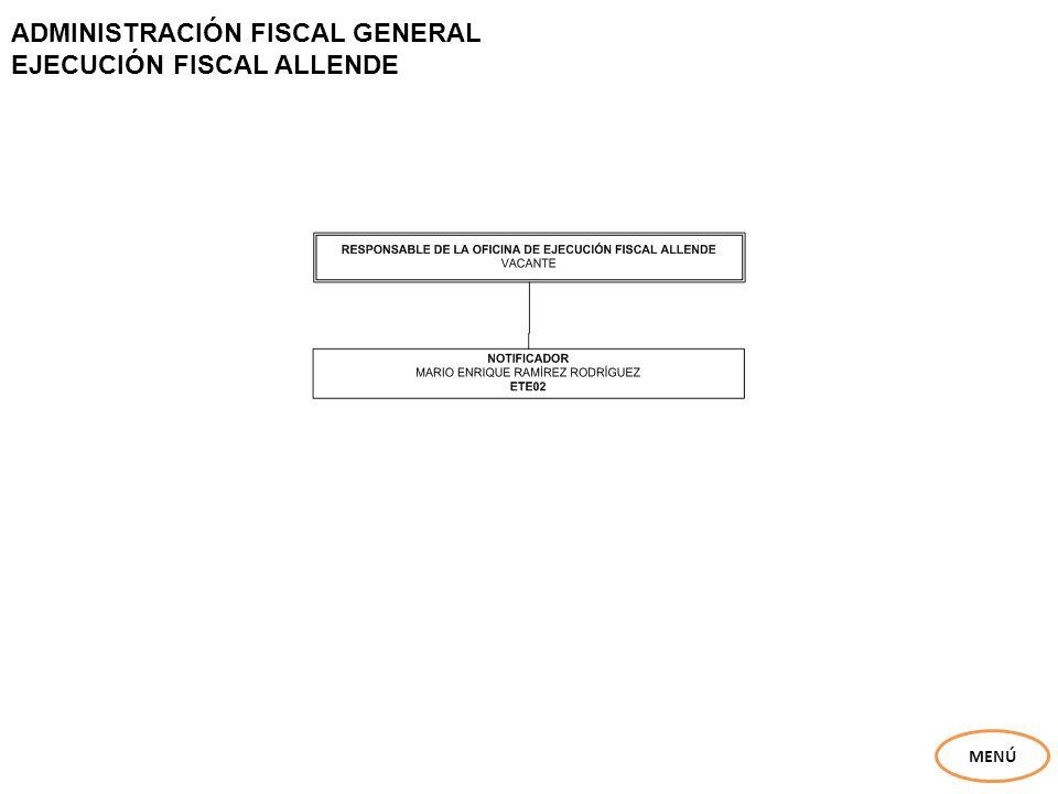 ADMINISTRACIÓN FISCAL GENERAL EJECUCIÓN FISCAL ALLENDE