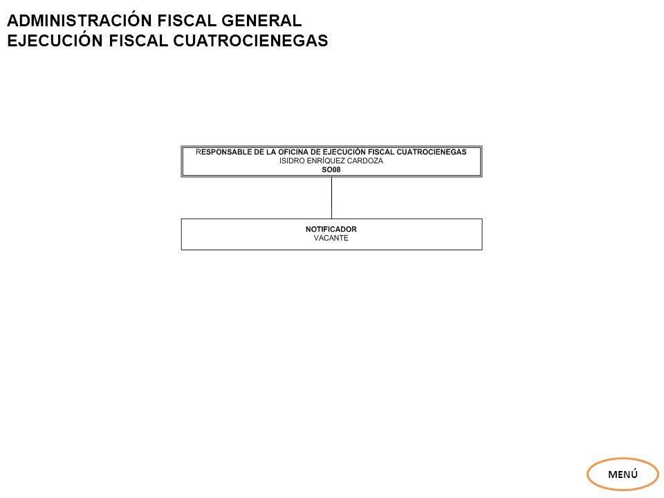 ADMINISTRACIÓN FISCAL GENERAL EJECUCIÓN FISCAL CUATROCIENEGAS