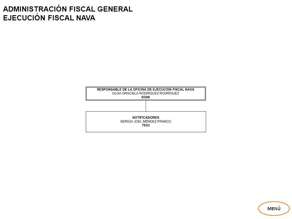ADMINISTRACIÓN FISCAL GENERAL EJECUCIÓN FISCAL NAVA