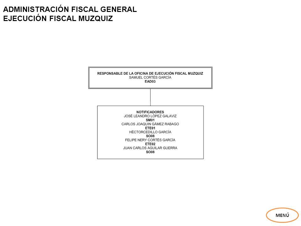 ADMINISTRACIÓN FISCAL GENERAL EJECUCIÓN FISCAL MUZQUIZ