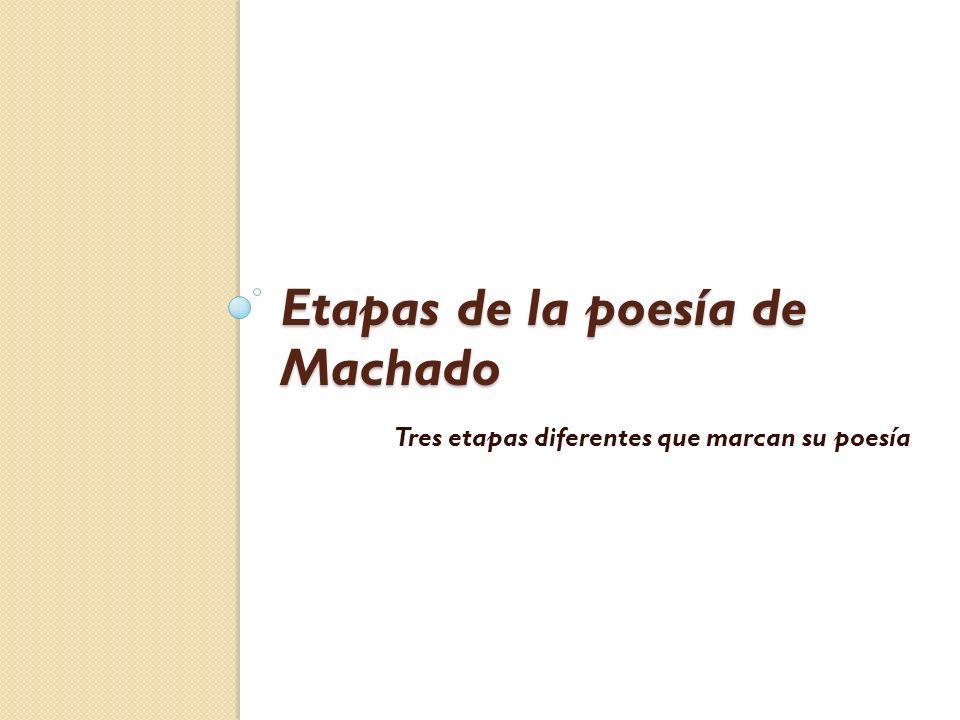 Etapas de la poesía de Machado