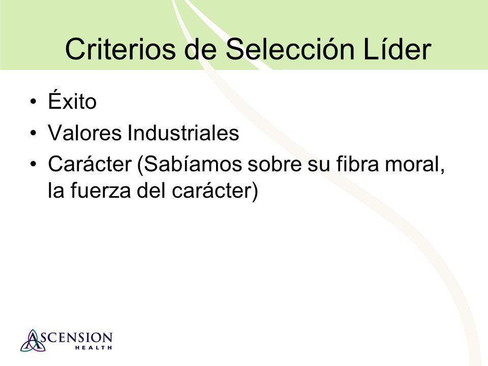 Criterios de Selección Líder