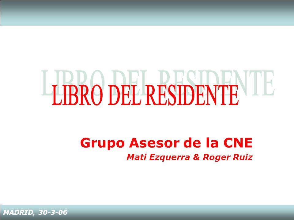 Grupo Asesor de la CNE Mati Ezquerra & Roger Ruiz