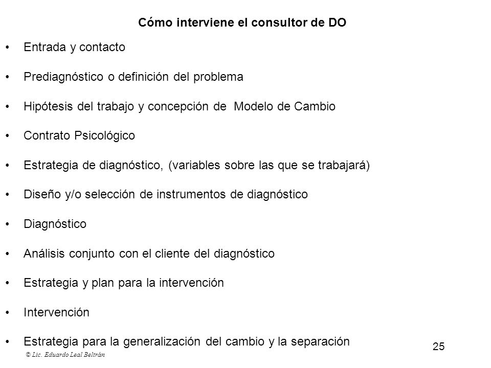 Cómo interviene el consultor de DO