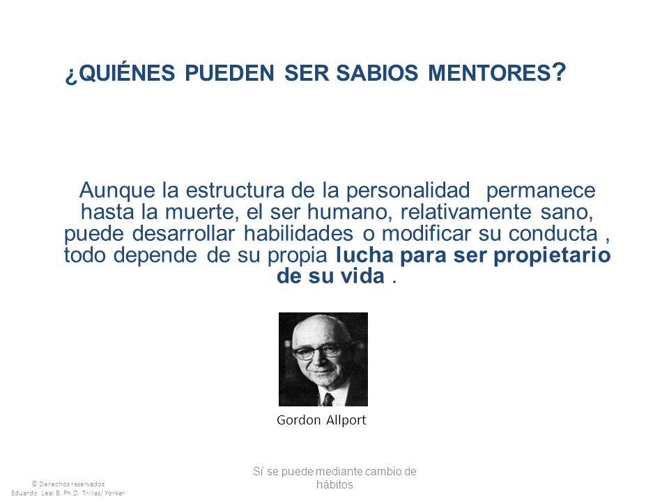 ¿Quiénes pueden ser sabios mentores