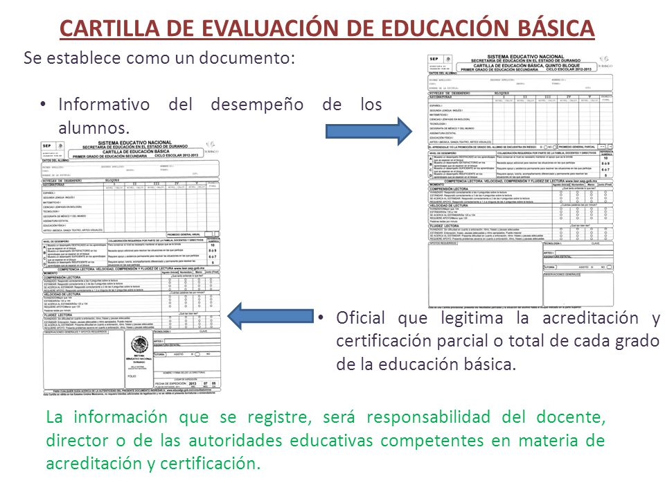 CARTILLA DE EVALUACIÓN DE EDUCACIÓN BÁSICA