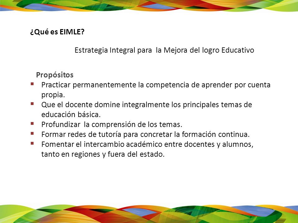 Estrategia Integral para la Mejora del logro Educativo