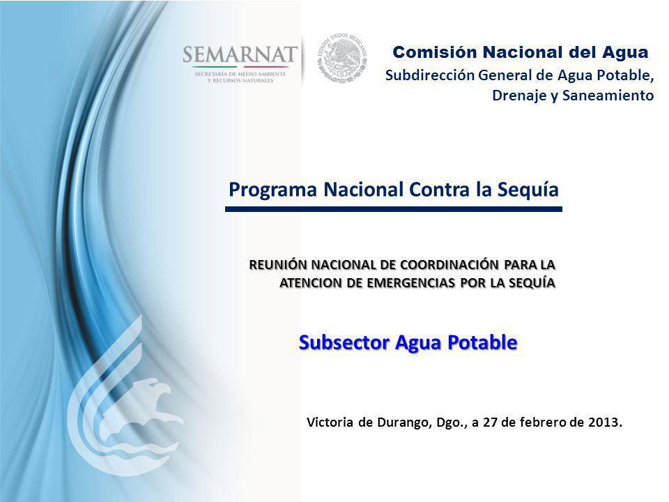 Programa Nacional Contra la Sequía Subsector Agua Potable