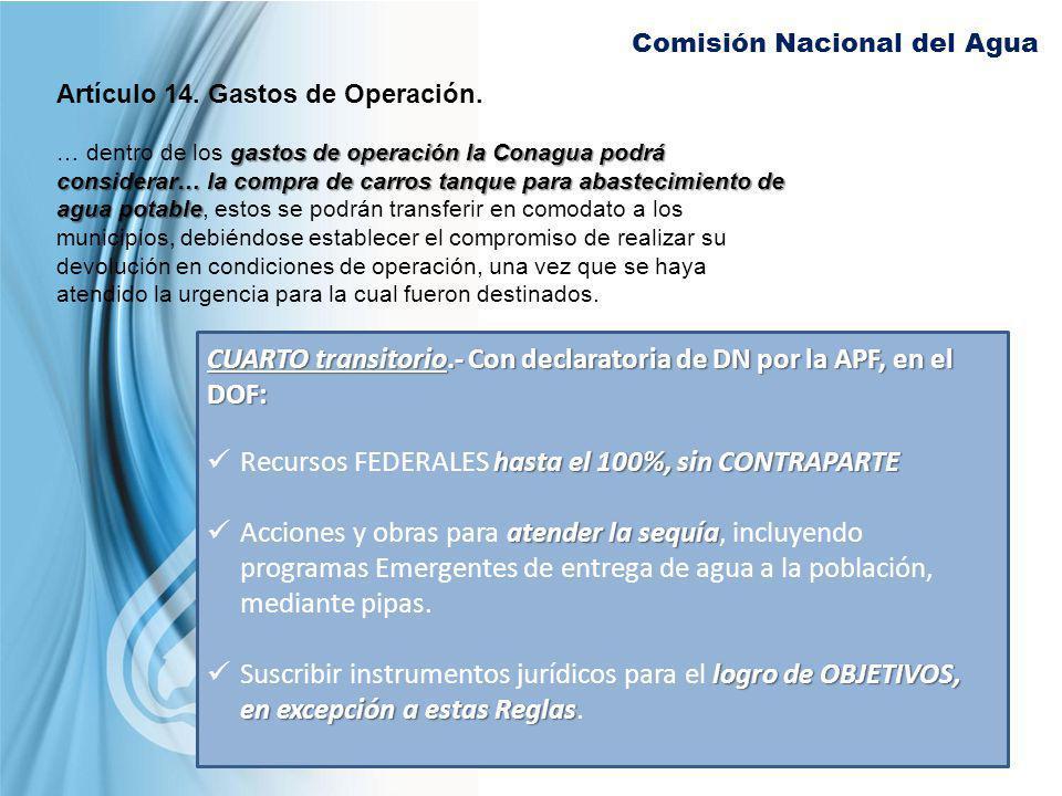 CUARTO transitorio.- Con declaratoria de DN por la APF, en el DOF: