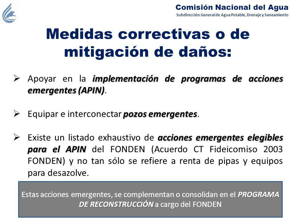 Medidas correctivas o de mitigación de daños: