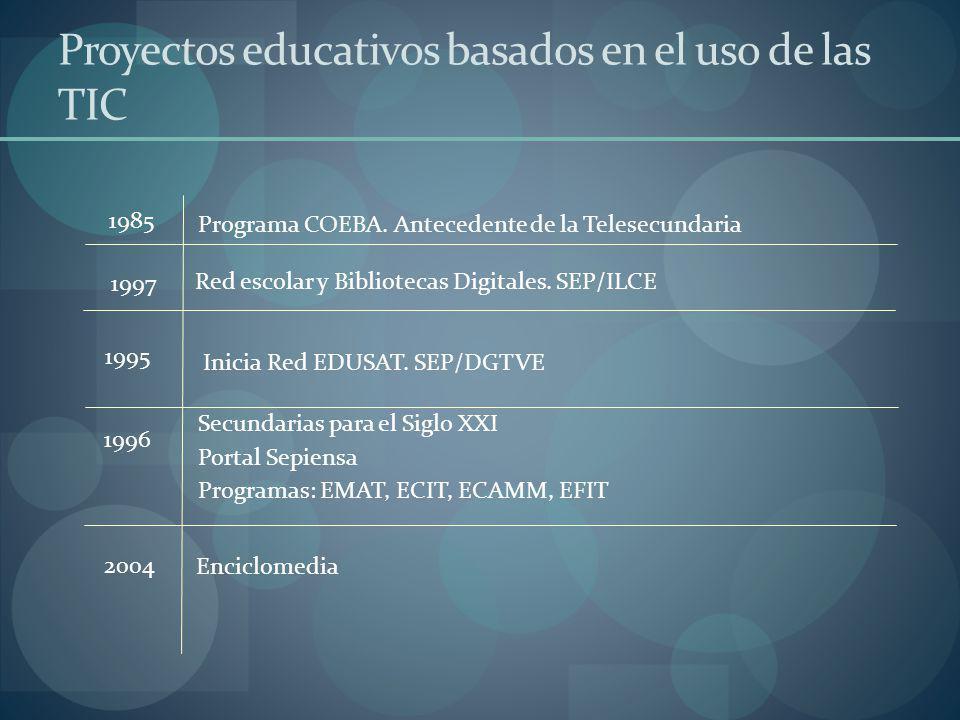 Proyectos educativos basados en el uso de las TIC