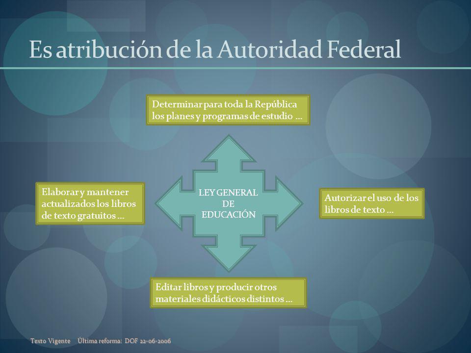 Es atribución de la Autoridad Federal