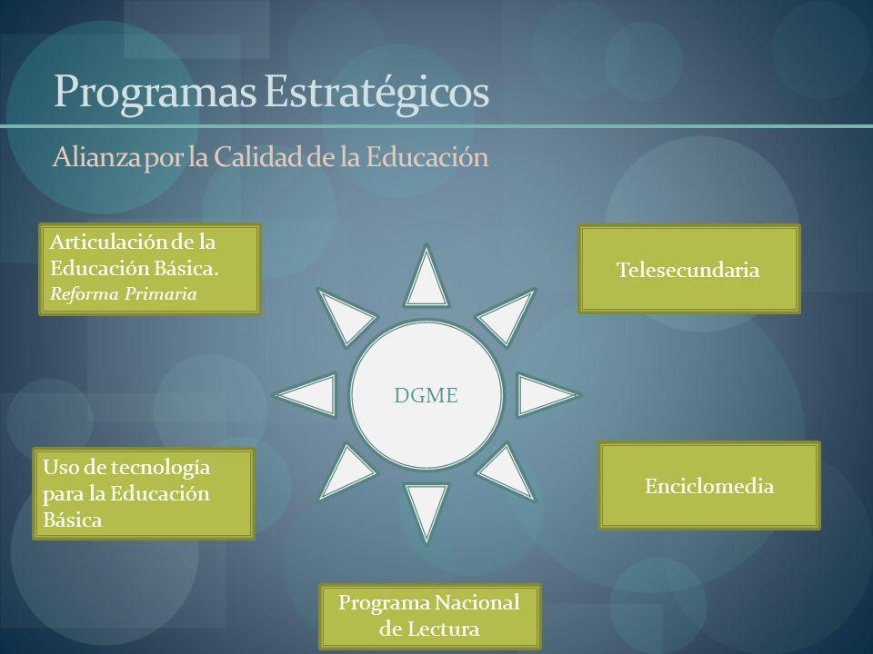 Programas Estratégicos Alianza por la Calidad de la Educación