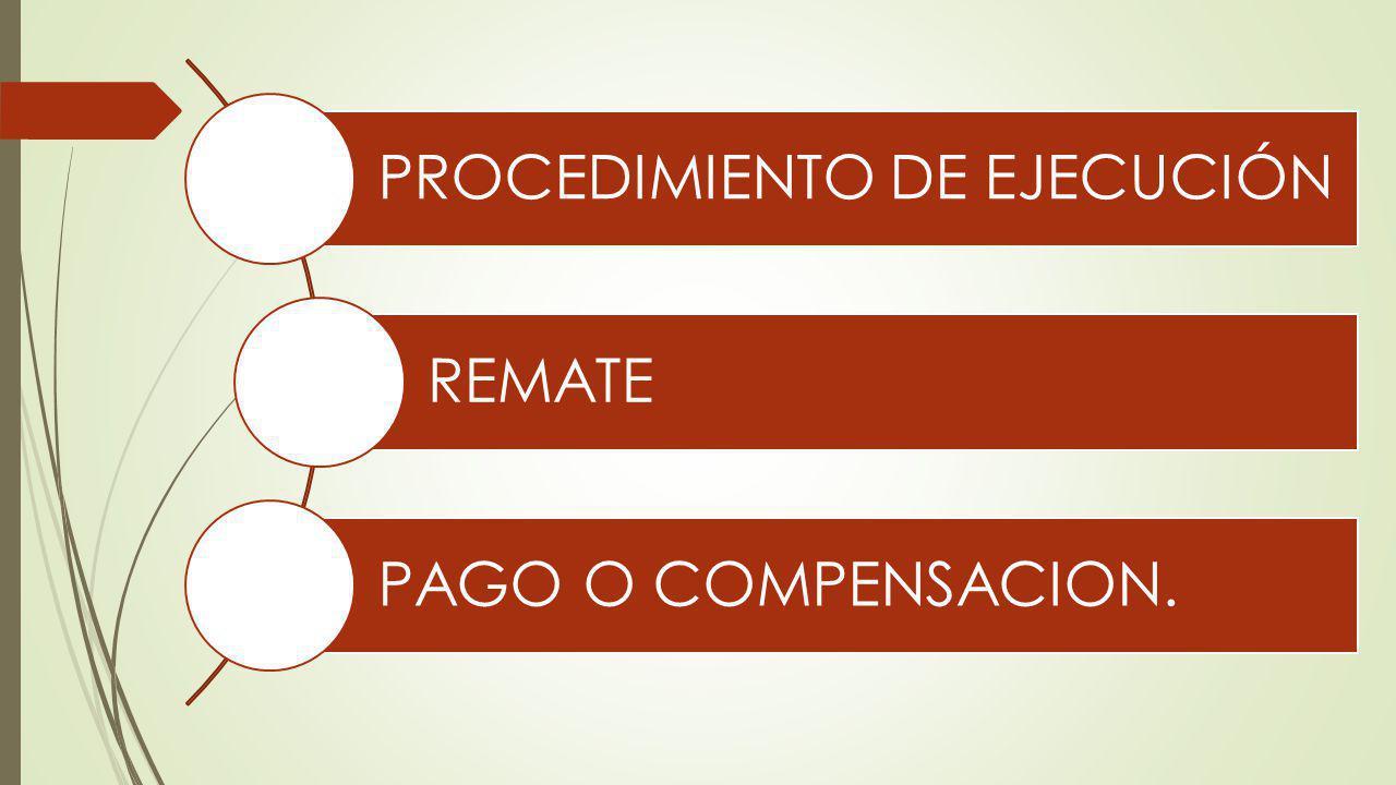 PROCEDIMIENTO DE EJECUCIÓN