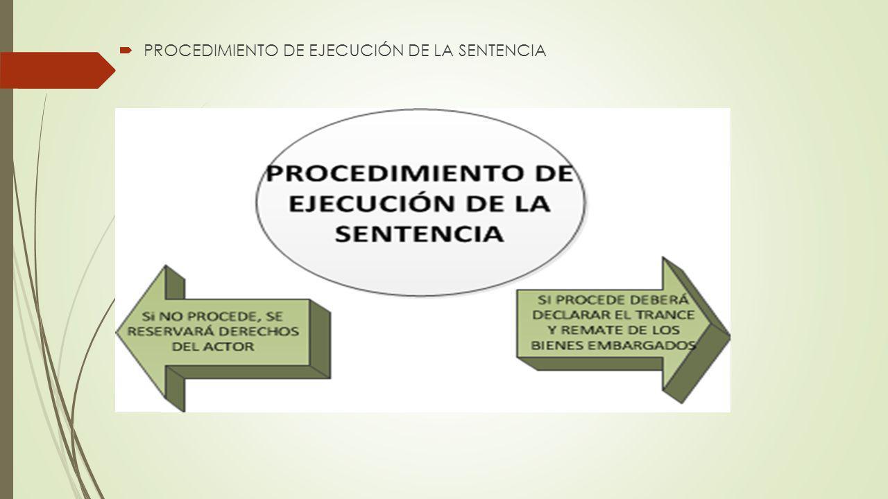 PROCEDIMIENTO DE EJECUCIÓN DE LA SENTENCIA