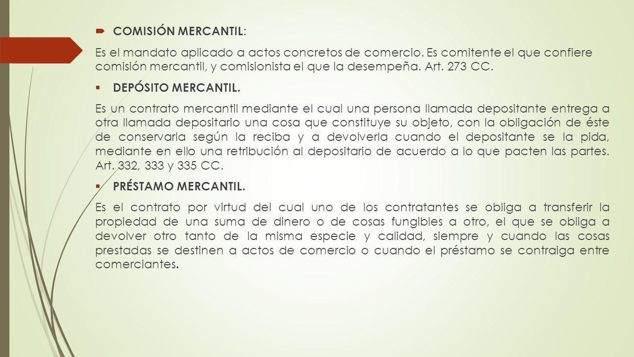 COMISIÓN MERCANTIL: