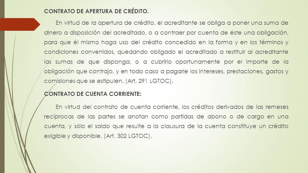 CONTRATO DE APERTURA DE CRÉDITO