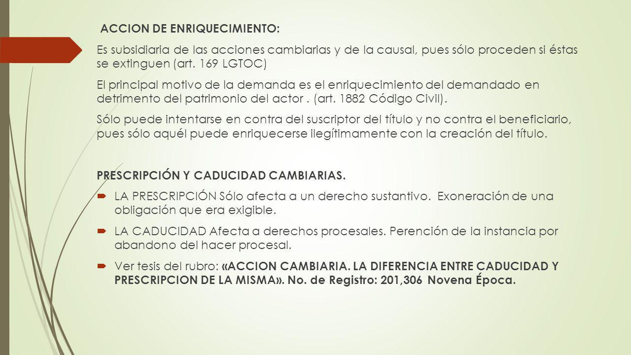 ACCION DE ENRIQUECIMIENTO: