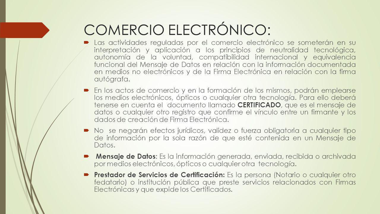 COMERCIO ELECTRÓNICO: