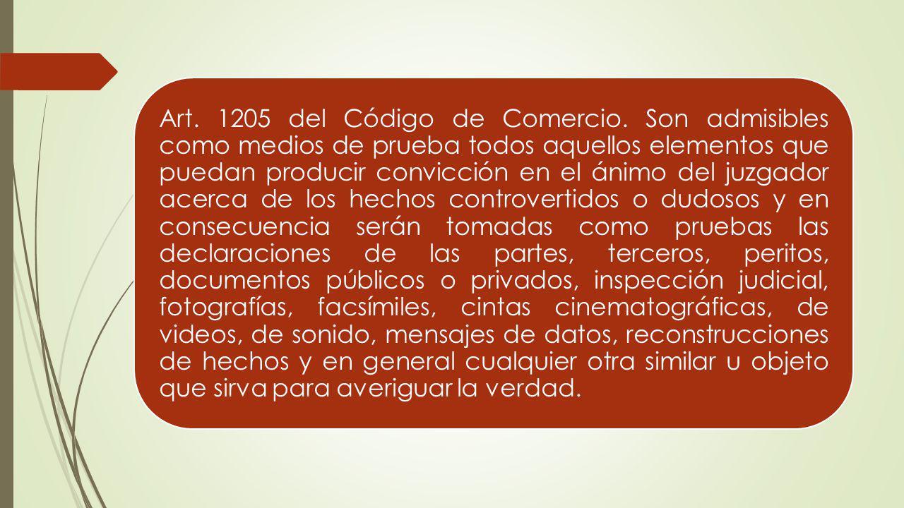 Art. 1205 del Código de Comercio