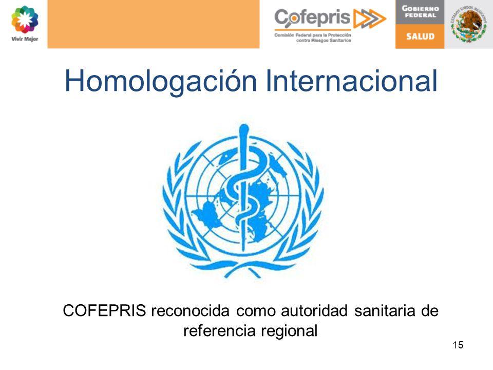 Homologación Internacional