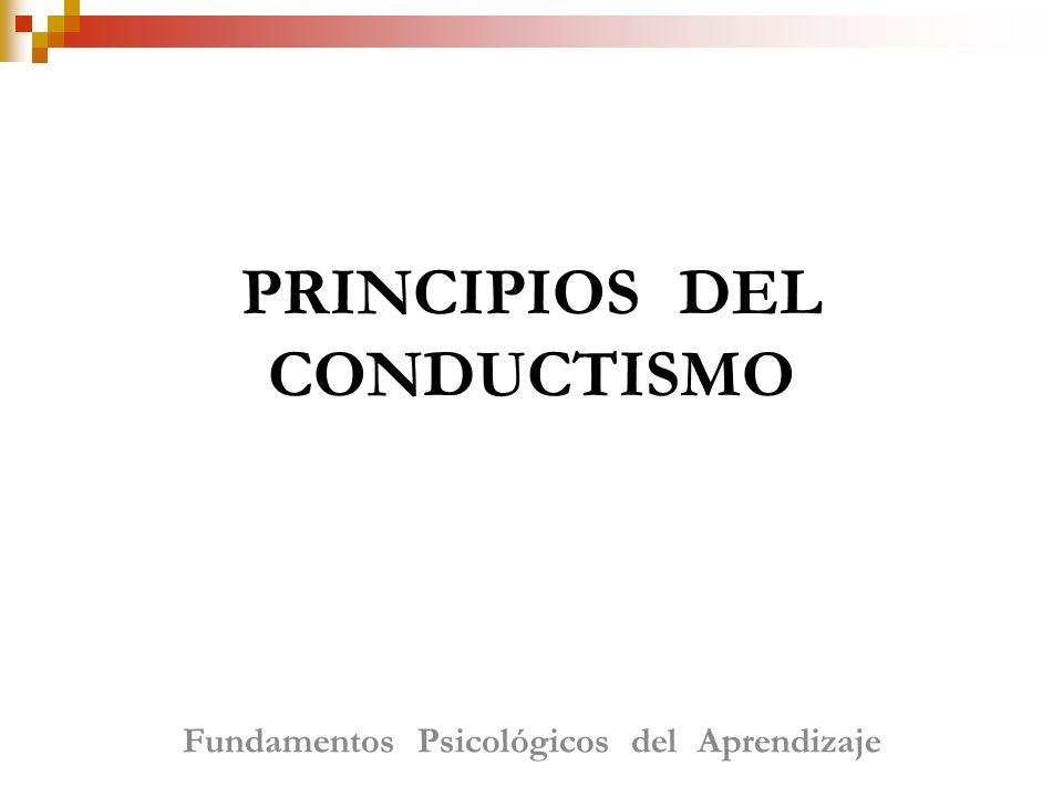 PRINCIPIOS DEL CONDUCTISMO