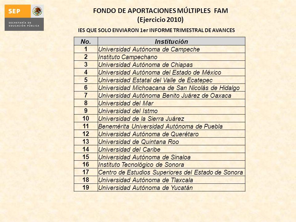 FONDO DE APORTACIONES MÚLTIPLES FAM (Ejercicio 2010)