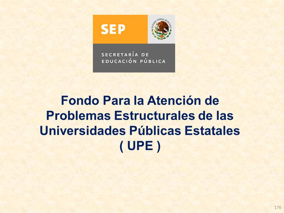 Fondo Para la Atención de Problemas Estructurales de las Universidades Públicas Estatales ( UPE )