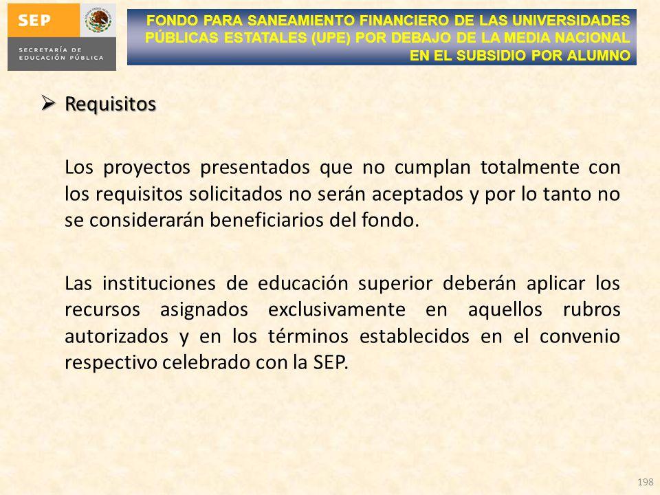 FONDO PARA SANEAMIENTO FINANCIERO DE LAS UNIVERSIDADES PÚBLICAS ESTATALES (UPE) POR DEBAJO DE LA MEDIA NACIONAL EN EL SUBSIDIO POR ALUMNO