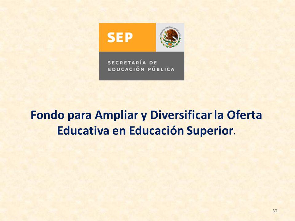 Fondo para Ampliar y Diversificar la Oferta Educativa en Educación Superior.