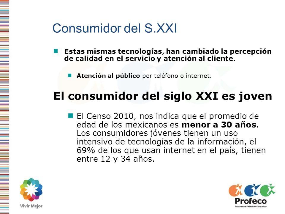 Consumidor del S.XXI El consumidor del siglo XXI es joven
