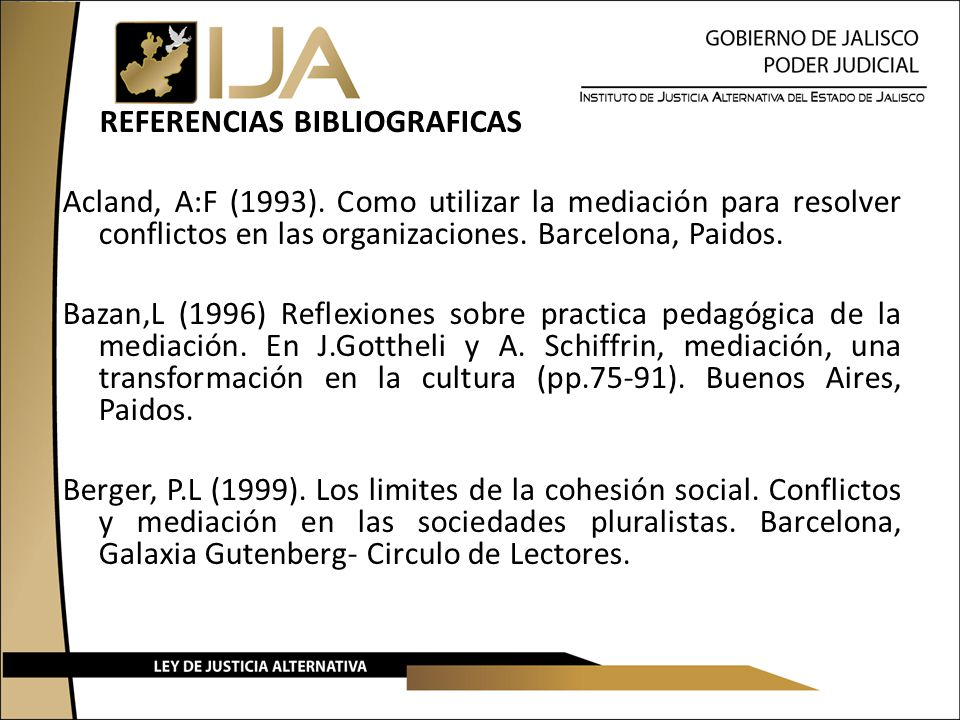 REFERENCIAS BIBLIOGRAFICAS Acland, A:F (1993)