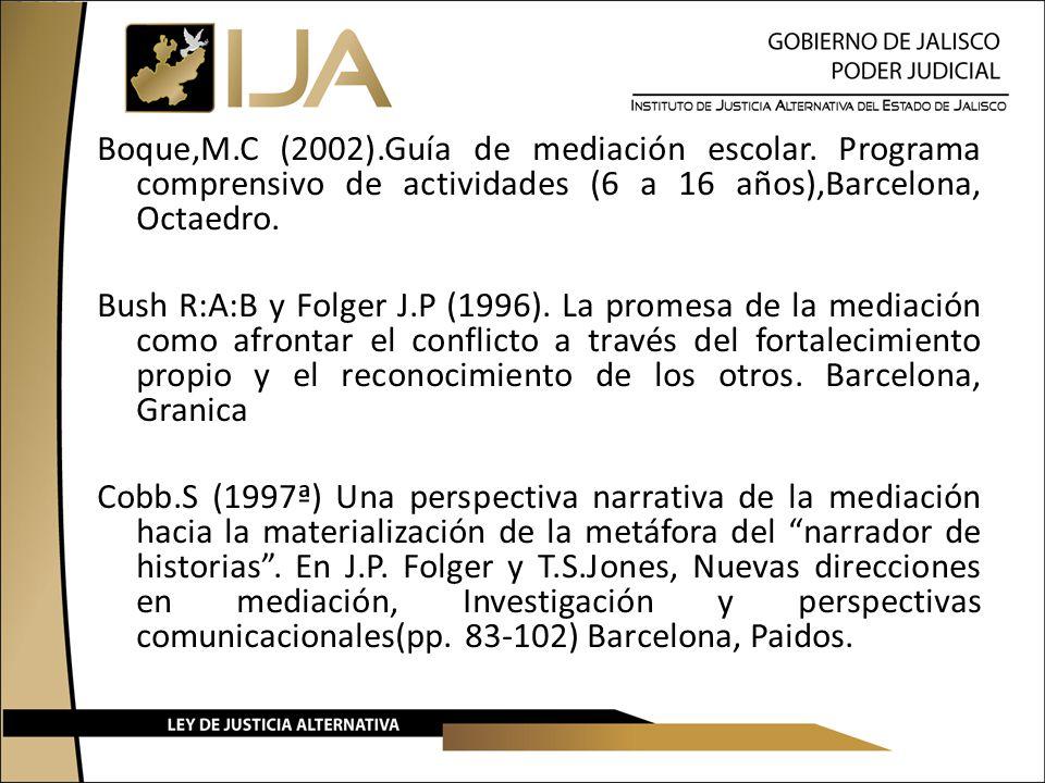 Boque,M. C (2002). Guía de mediación escolar