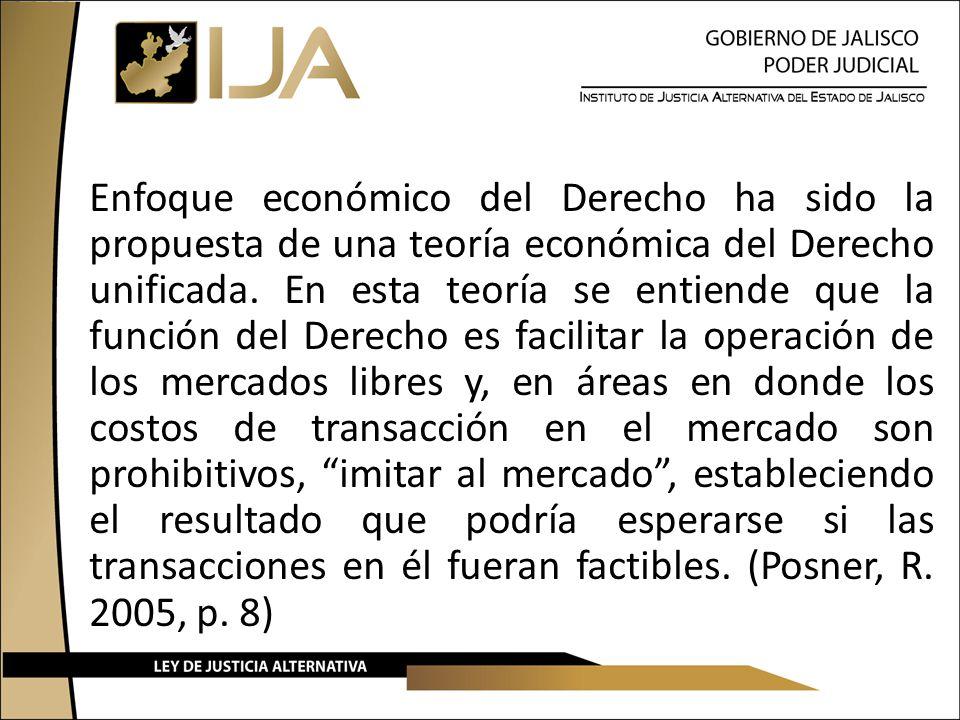 Enfoque económico del Derecho ha sido la propuesta de una teoría económica del Derecho unificada.